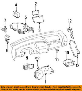 image is loading oldsmobile-gm-oem-96-97-cutlass-supreme-dash-