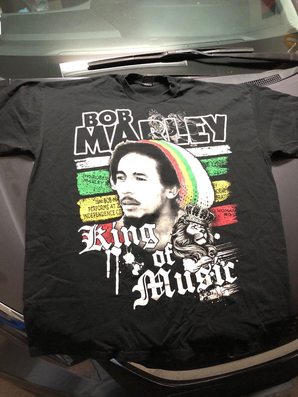 Vintage Bob Marley King Of Music Pro Tag Shirt Made In USA Rare 4XL Rasta Regge