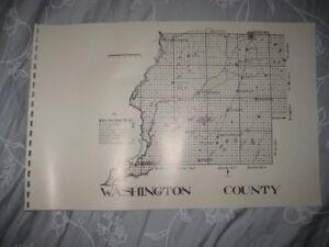Chipley Florida Map.Antique 1914 Washington County Florida Map 1987 Edition Railroad