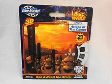 View Master Star Wars Story 1 ATTACK OF THE CLONES 3 Reels 3D Adventures New