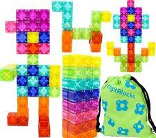 Digitblocks Translucent Edition Magnetic Building Block Tower 48 Blocks 8 Colors