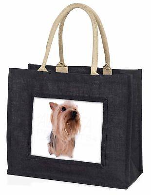 Yorkshire Terrier große schwarze Einkaufstasche Weihnachten