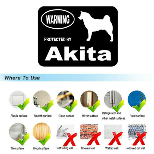 Warning Akita Dog Decal Motorcycle Car Auto Vinyl Laptop Wall Window Sticker
