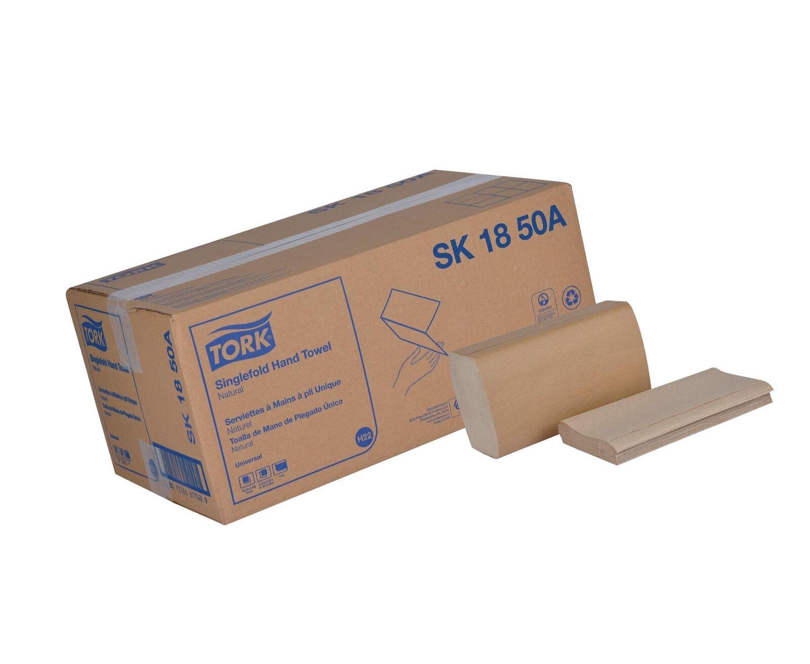 Tork Universal SK1850A Singlefold Paper Hand Towel, 1-Ply, 9.125  Width x 10....