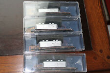 N SCALE LOT OF 4 ,  57' converted tofc flat car . NASA #5  BY MIICRO TRAINS