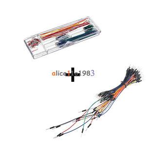 140pcs U Shape Solderless Breadboard Jumper Cable Wire Kit + 65PCS ...