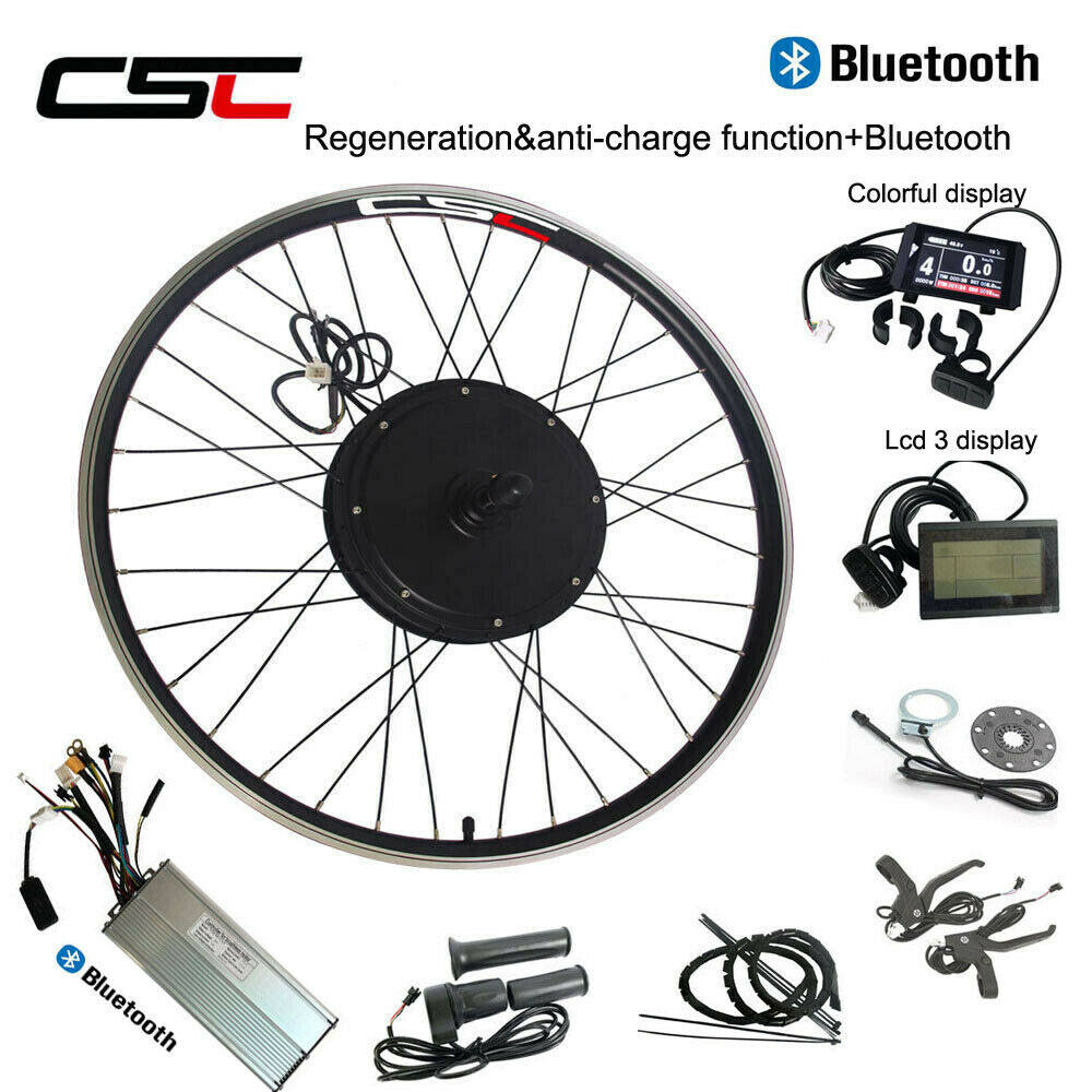Electric Wheel Conversion Motor Kit AntiCharge 500W 1000W 1500W 48V blutooth
