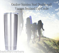 Outdoor Stainless Steel Vacuum Insulated Cup Cooler Double-wall Car Drinking Mug