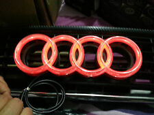 New 273mm Larger Audi 4d led badge red direct replacement