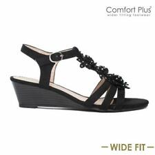 6fe758622a95 item 2 LADIES WEDGE SANDALS WOMENS WIDE FIT SUMMER DRESS HEELS PARTY  STRAPPY SHOES SIZE -LADIES WEDGE SANDALS WOMENS WIDE FIT SUMMER DRESS HEELS  PARTY ...