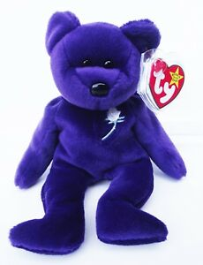 f66951d690f TY BEANIE BABY PRINCESS BEAR 5TH GEN HANG TAG 6TH GEN TUSH TAG P.E. ...