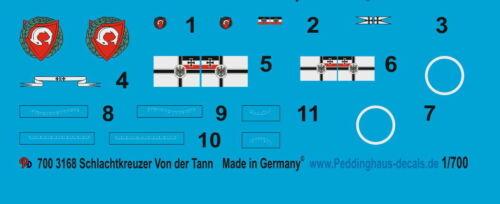 Peddinghaus  1//700 3168 SMS Schlachtkreuzer von der Tann