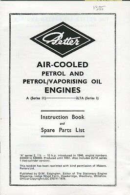 Industrial Have An Inquiring Mind Petter A Series 2 & 2lts Series 1 1946-51 Instructions/parts Reprint
