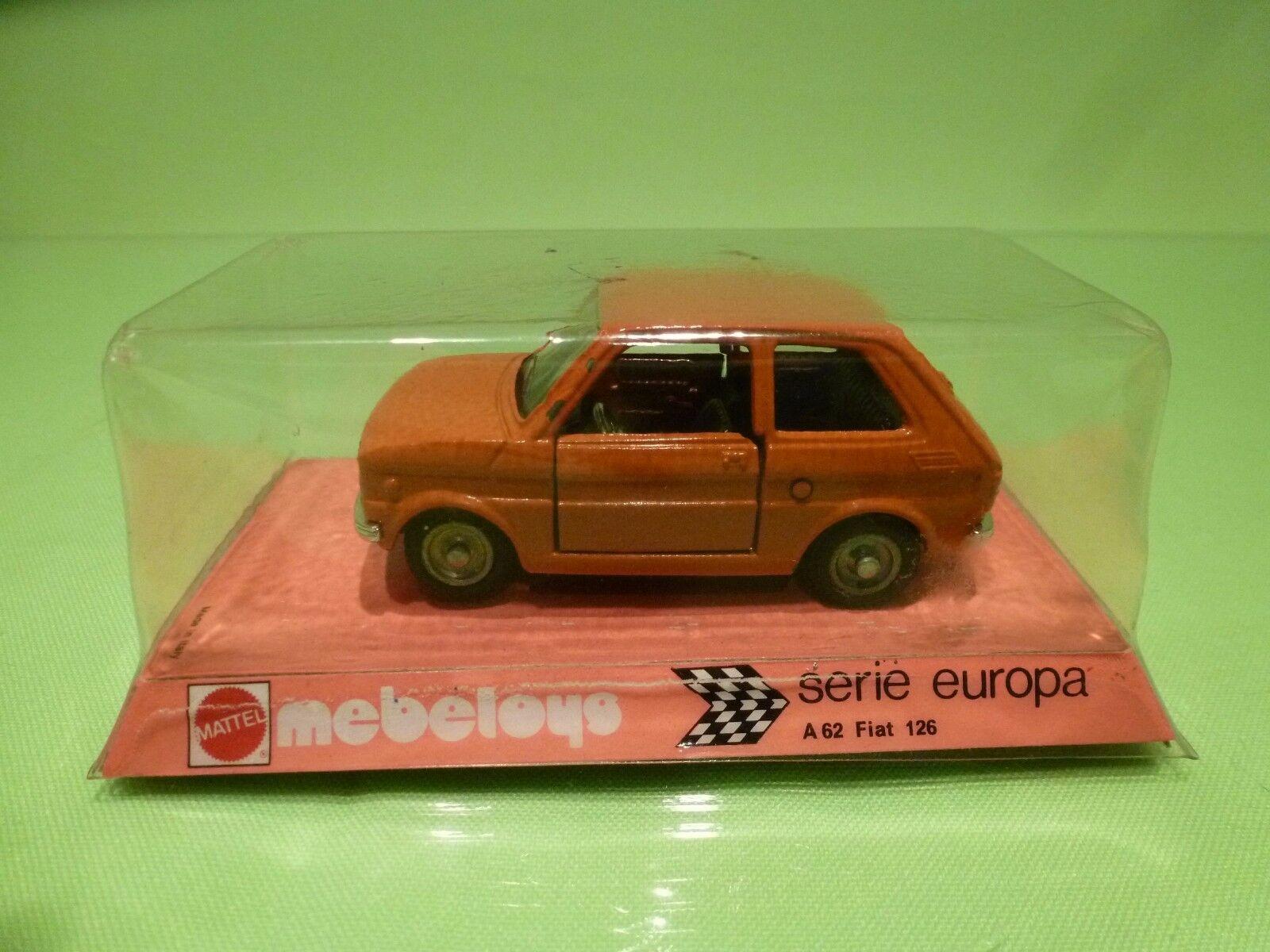 MEBETOYS A62 FIAT 126 - BAMBINO - naranja 1 43 - NEAR MINT IN UNOPENED BOX
