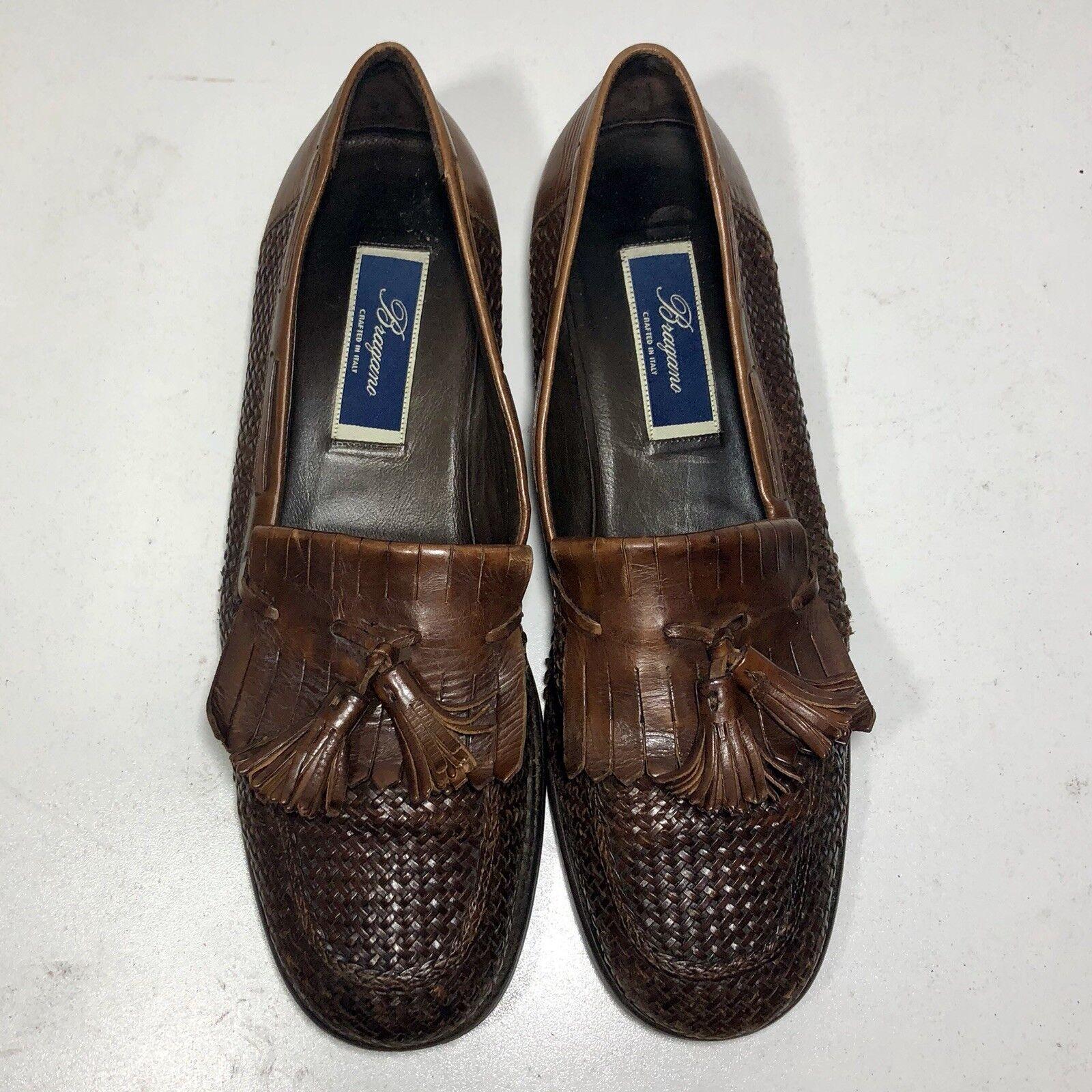 400 Bragano Bragano Bragano  Cole Haan Men's 10 M braun Woven Leather Tassel Kilt Loafers f26b04