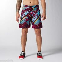 New Men's REEBOK RCF Crossfit Core Shorts - B87954 Red Board Shorts