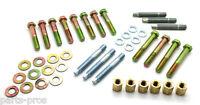 Sbc Small Block Chevy Hd Ram Horn Exhaust Manifold Bolt & Stud Kit / 3