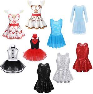 Kids-Girls-Lyrical-Dress-Ballet-Dance-Leotard-Skirt-Gymnastics-Princess-Costume