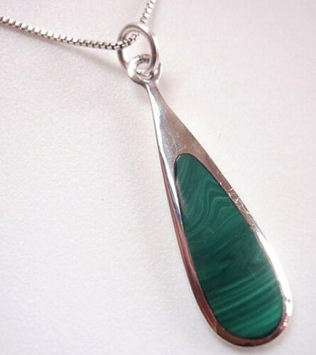 Malachite Goutte Argent 925 Pendentif En Argent Sterling Corona Sun Jewelry