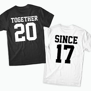 Image Is Loading Together Since T Shirts Couples Valentines  Love Anniversary