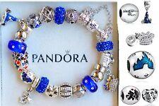 Authentic PANDORA BRACELET Disney world Mickey Minnie Hat Blue Fantasia Charms