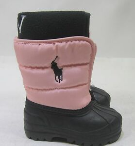 011b9f255 Image is loading Polo-Ralph-Lauren-Vancouver-Zip-Snow-Boots-Black-