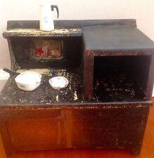 antique kids Cast Iron stoves 1930 Little Orphamannye+ Corning Style Set