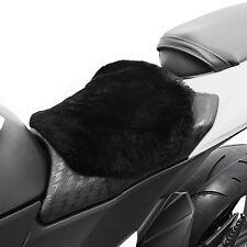 Motorrad Fell Sitz-Auflage S Komfortkissen Schaffell Lammfell Sitzkissen