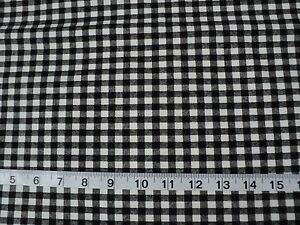 Details About New 100 Cotton Black White Gray Checkered Quilting Fabric Sold By 1 2 Yard