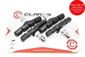Lot de 4 Genuine Clarks CP510 70 mm MTB Filetés v Frein Blocs Patins De Frein Chaussures-afficher le titre d`origine G5jR6s0M-07135536-610383472