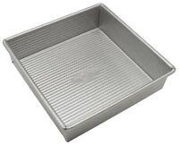 Usa Pan Bakeware Aluminized Steel 8 X 2.25 Inch Square Cake Pan, New, Free Shipp on sale