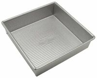 Usa Pan Bakeware Aluminized Steel 8 X 2.25 Inch Square Cake Pan, New, Free Shipp on sale