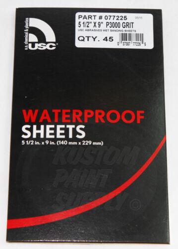 "3000 Grit Wet Sanding Sheets 5 1//2/"" x 9/"" Abrasives"