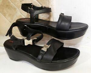 Prada-Black-leather-Platform-sandals-sport-buckle-size-eur-40-us-10-UNWORN