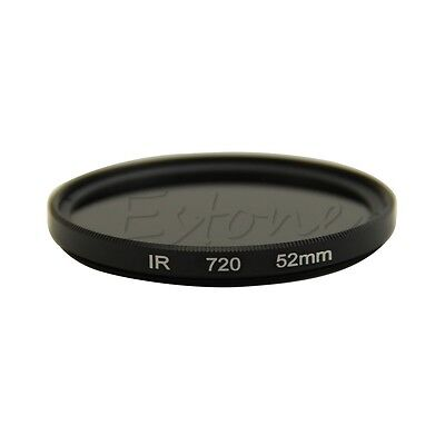 52mm Infrared Infra-red IR 720 Pass X-Ray Lens Filter 720nm DSLR Optical Glass