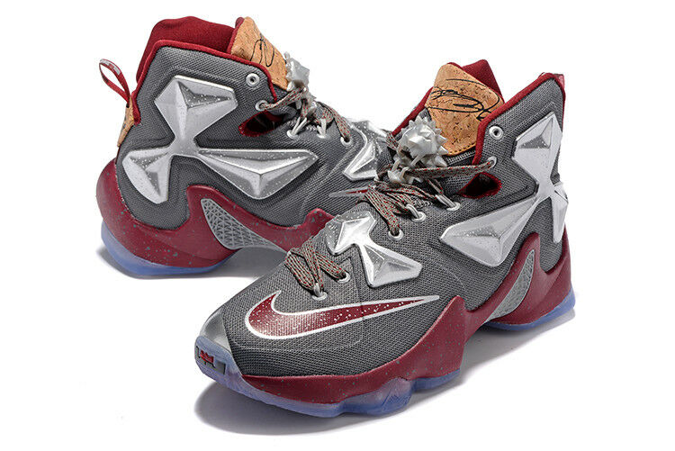 RARE 823300 NIKE MEN BASKETBALL SHOES LEBRON XIII 13 LIMITED 823300 RARE 060 GREY GARNET 9.5 368b20