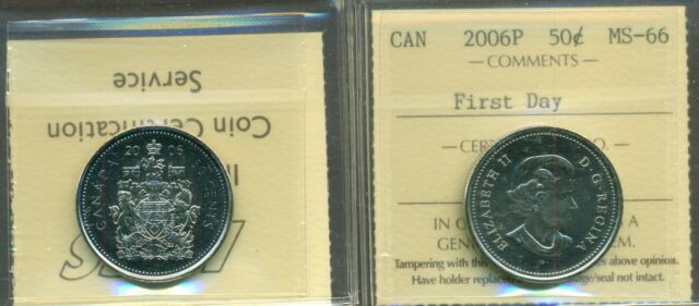 2006P Canada Fifty Cent Certified  First Day ICCS MS-66