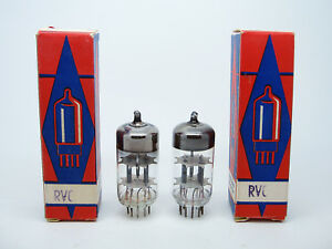 2-x-NOS-RVC-ECC83-12AX7-tested-strong-Vakuum-Audio-Doppel-Triode-Deutsch-Roehren
