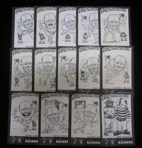 1987-Raiders-Smokey-Huddles-Arsonbusters-Assorted-Postcards-drop-down-menu