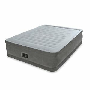 Intex-Queen-Comfort-Plush-Elevated-Mattress-Air-bed-with-Built-In-Pump-Gray