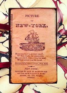 1825-NEW-YORK-CITY-Population-150k-VERY-RARE-MINATURE-GUIDE