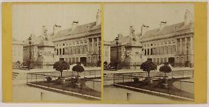 Bruxelles Place Dei Martiri Belgium Foto Stereo P28T4n32 Vintage Albumina