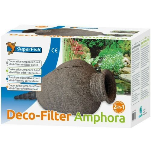 Superfish Decoration Ornament Amphora Mini Filter carpe koi goldfish laghett