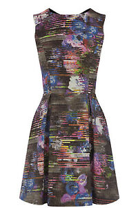 WAREHOUSE ABSTRACT FLORAL DRESS