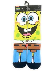Odd-Sox-SpongeBob-SquarePants-Socks-Crew-Sz-6-13-Printed-Digital-Nickelodeon-new