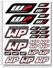 WP White Power shock gabel aufkleber set 24x32cm blatt 26 sticker KTM Duke exc