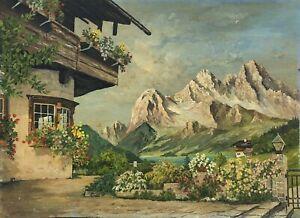 Alpenlandschaft-IN-Summer-Mountains-Hut-Lake-Flowers-Austria-Switzerland-Italy