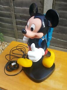 Vintage-Collectible-Rare-Mickey-Mouse-Telephone-Walt-Disney-1980-039-s-with-box