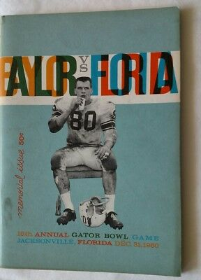 Vintage 1960 ARKANSAS VS BAYLOR VS FLORIDA GATOR BOWL Football ...
