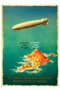 Aviation: Deutsche Zeppelin N0713-poster/reproduction 40x60c D1 Affiche Ancienne Lbia9npq-07221352-299127866